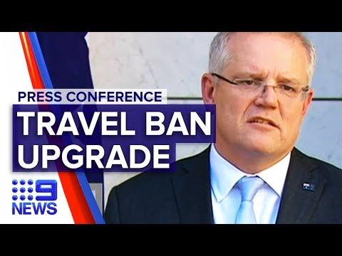 Coronavirus: PM provides update on new travel ban measures | Nine News Australia