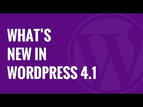 What's New in WordPress 4 1 - 동영상