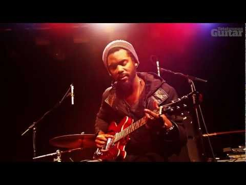 Gary Clark Jr plays electric blues for Total Guitar magazine