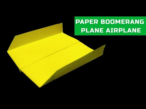 How to make a boomerang paper airplane | Super origami boomerang plane