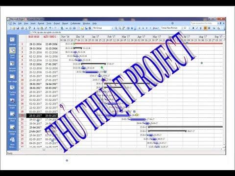 Thay đổi định dạng ngày tháng trong Project – Hướng dẫn project – Sử dụng Project