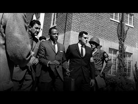 Desegregating colleges James Meredith-Ole Miss and George Wallace-University of Alabama, 7
