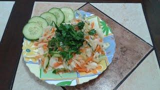 Салат витаминный|Салат из капусты моркови и свежего огурца