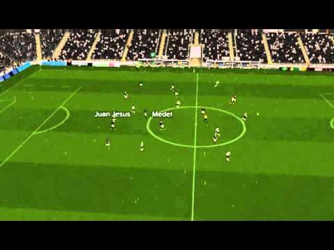 Cesena - Inter - Gol di Medel 22� minuto