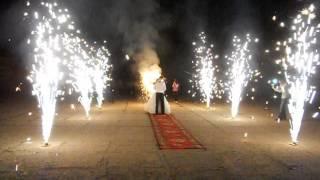 Свадебное шоу - Пиротехника Фонтаны Сердце Вертушки Барнаул
