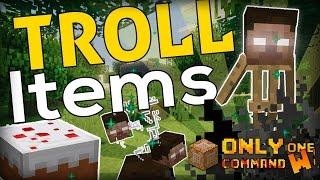 11 WAYS to TROLL in Minecraft (Troll Items command)
