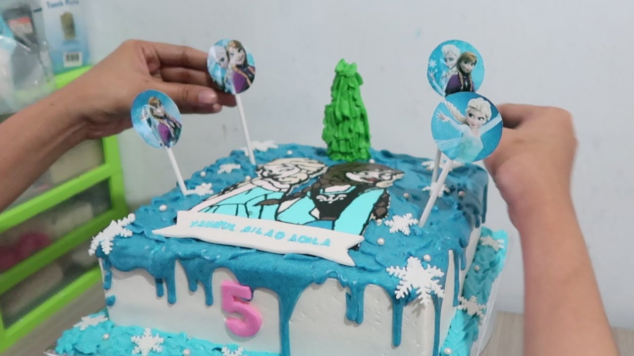 How To Cake Decorating Frozen Birthday Cake For Daughter How To Make Cake Tart Simple