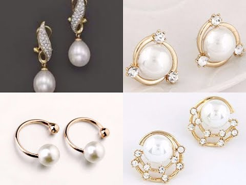 Latest Simple Pearl Earrings Designs With Price