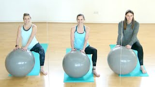 3rd Trimester Birthing Ball Workout to Relax and Calm | Powerful Pregnancy | Jane Wake