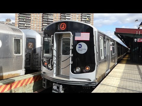 BMT Jamaica Line: R179 J Train and R42/R32 NIS Trains at Lorimer St-Broadway (Weekend-G.O.)