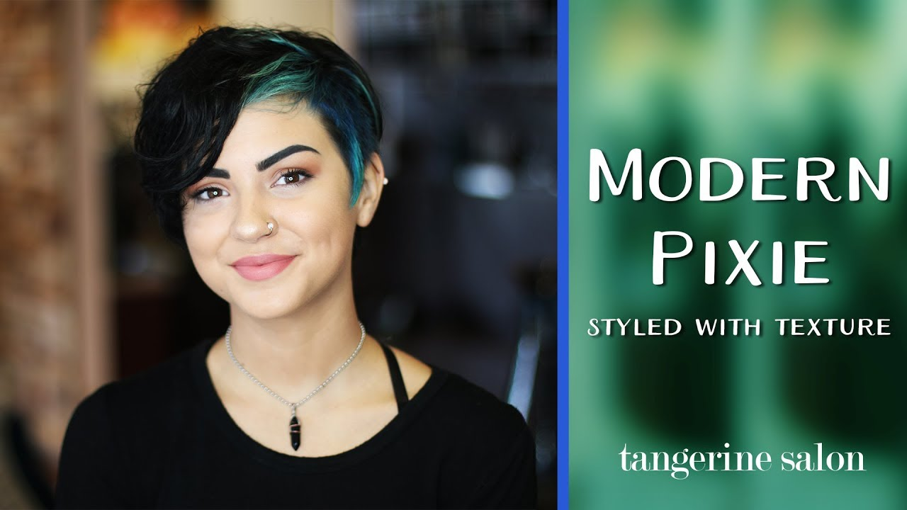 Modern Pixie Haircut Styled With Texture Youtube