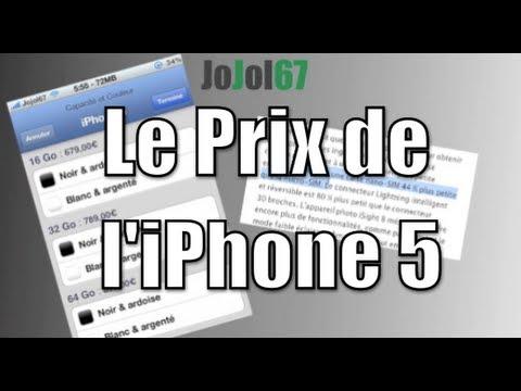 Le prix de l'iPhone 5 et Nano-Sim! OFFICIEL
