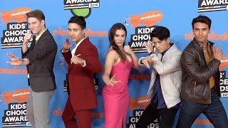 "Cast of ""Power Rangers Ninja Steel"" 2018 Kids"