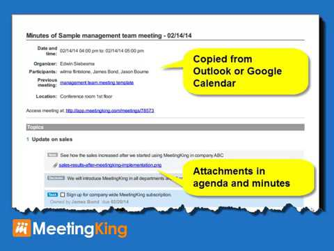 Meeting Minutes Template - Youtube