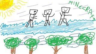 MINECRAFT CON NOOBS - CONSTRUIMOS UN PUENTE DE HIELO GIGANTE #34