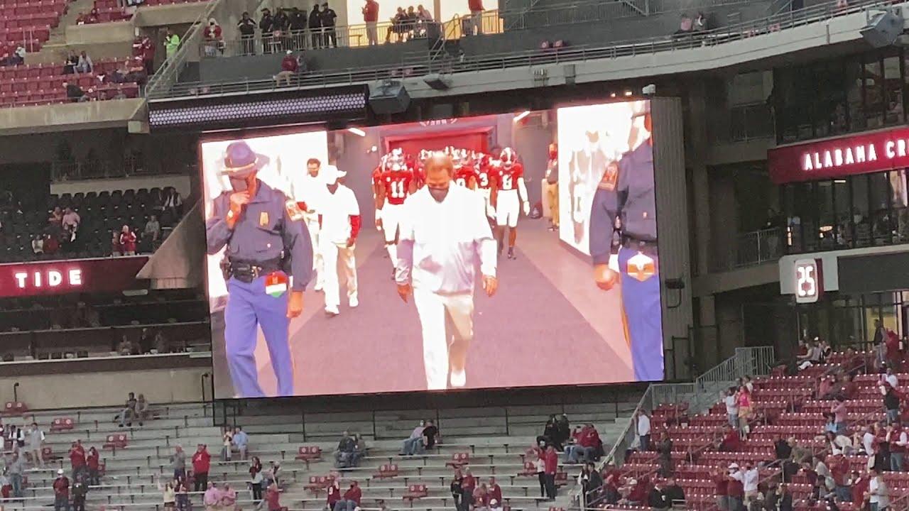 See Nick Saban, Big Al lead Alabama football Walk of Champions ...