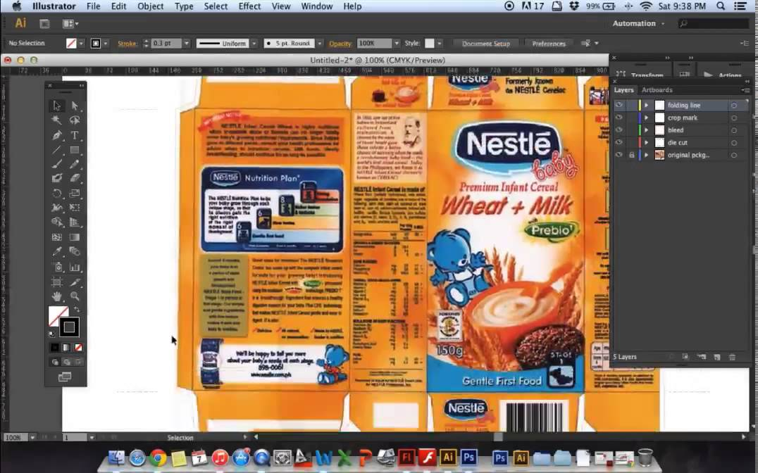 Packaging template tutorial using illustrator cs6 youtube for Adobe illustrator packaging templates