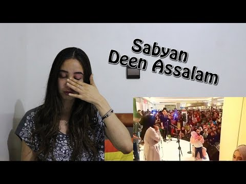 Sabyan- Deen Assalam LIVE (crying little kid ) _ REACTION