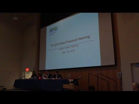 Staten Island Rate Hearing - 5/19/14 (part 1)
