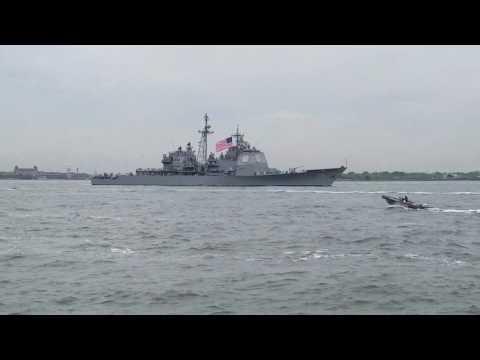 2017 NYC Fleet Week Parade Of Ships  Part 1