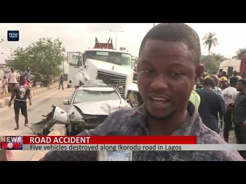 Five vehicles destroyed on Ikorodu road auto-crash in Lagos