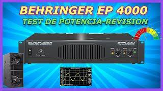 BEHRINGER EP 4000 TEST DE POTE…