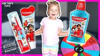 Kids Morning Routine Spinning Wheel | Ryan's World Toothbrush | Brush Your Teeth | Walmart Toy Hunt