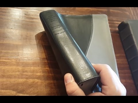 "Tyndale NLT Life Application Study Bible (Red Letter) in a ""Leather-Like"" cover - Bible Review"