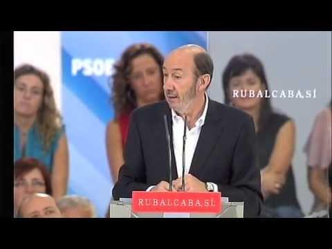 Rubalcaba se dirige a los padres de José Blanco