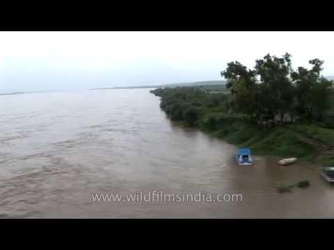 Crossing the mighty Brahmaputra in monsoon spate
