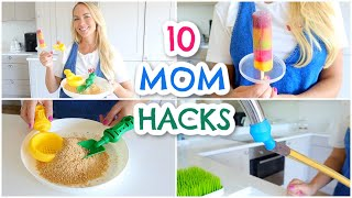 10 NEW MOM HACKS / MUM HACKS TO TRY  |  Emily Norris