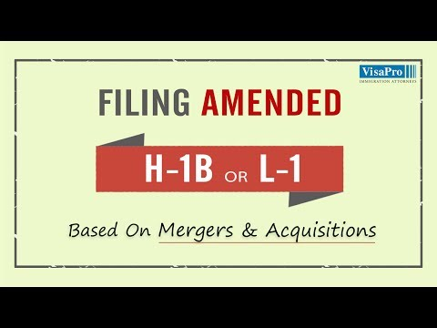 Impact of Mergers and Acquisitions on H1B Visa & L1 Visa Holders