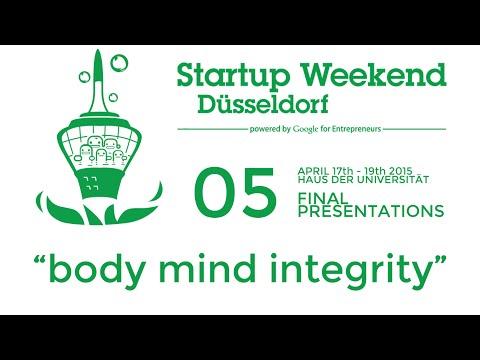 Startup Weekend Düsseldorf 2015 - Final Pitches - 5 - body mind integrity - #SW_Dus