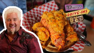 You Won't Believe the FRIED LOBSTER and Waffles Guy Fieri Tried | Diners, Drive-ins and Dives