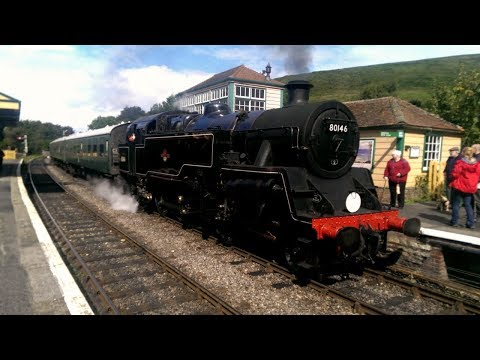 BR's Standards - Swanage Railway BR Standard Class 4MT 80146 Footplate Ride 09/09/17