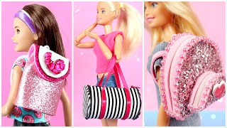9 DIY BARBIE BAG Collection 2 ~ How to Make Barbie Doll Miniature Crafts