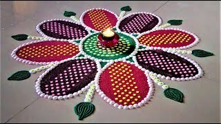 Unique and Innovative Rangoli Designs Using Kitchen Tools| Easy Rangoli by Shital Mahajan.