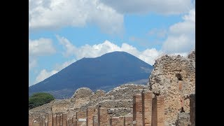Pompeii, Italy Ancient Archaeological Historical Ruins : June 16, 2018 Mount Vesuvius