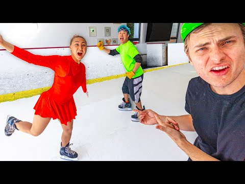 I PUT AN ICE SKATING RINK IN HIS HOUSE!! (He Was So Mad)