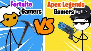 Fortnite Gamers vs Apex Legends Gamers