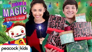 Akira and Walker Save Christmas Again! | JUNK DRAWER MAGIC TRICKMAS