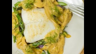 Sous Vide Halibut With Soy Custard