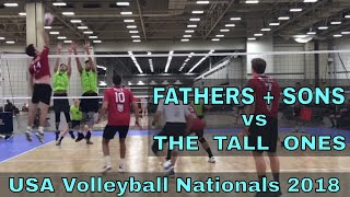 Fathers & Sons vs Tall Ones (Day 1, Match 2) - USAV Nationals 2018 Volleyball Tournament