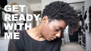 GRWM| Wash n Go w/Eco Styler Gel & Natural Make up Look| BEAUTYCUTRIGHT