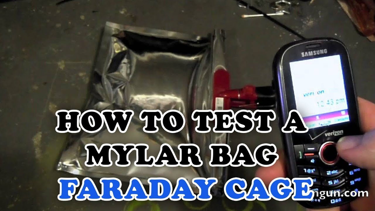 How To Test A Mylar Bag Faraday Cage