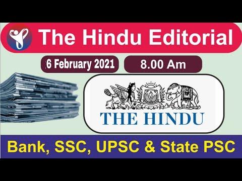6 February 2021 | The Hindu Newspaper Analysis | Current Affairs Today I Aayush Methi | YouthIAS