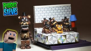 Five Nights at Freddy's fnaf NIGHTMARE FREDDY The Bed McFarlane toys lego construction set unboxing