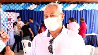 Em convenção do PL e Progressista de Quixeré, o empresário Valdir Souto se mostra apoiador.