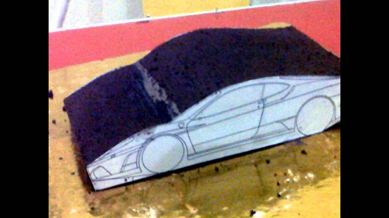 How To Make 3d Sport Car Cake Tutorial Video Fondant Cake Youtube