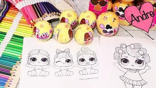 Dibujos para colorear de muñecas l.o.l. | Juguetes con Andre para niñas y niños